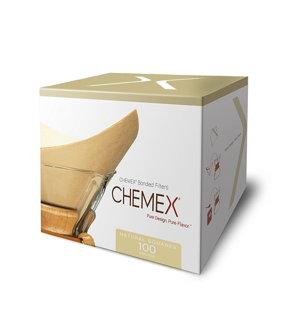 Chemex coffee maker natural filters