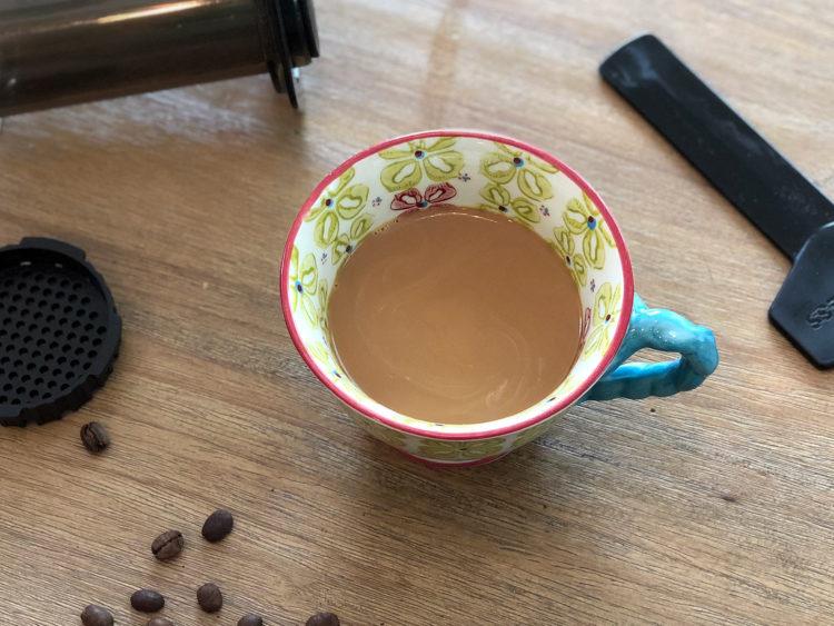 Enjoying your final AeroPress coffee