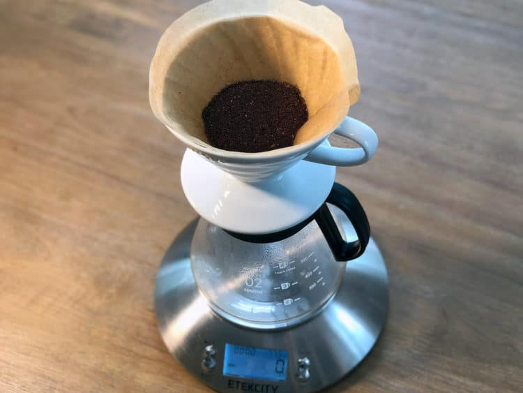 Grind the coffee