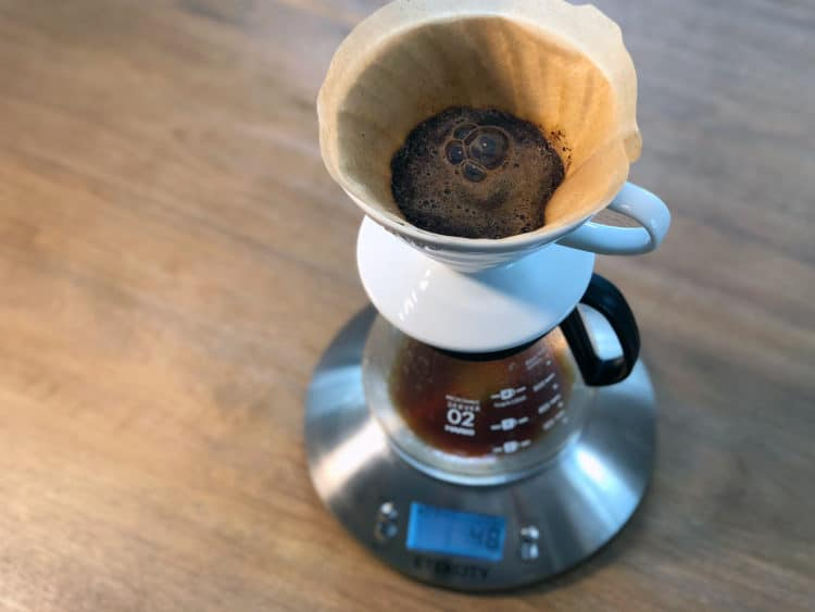 Bloom the coffee