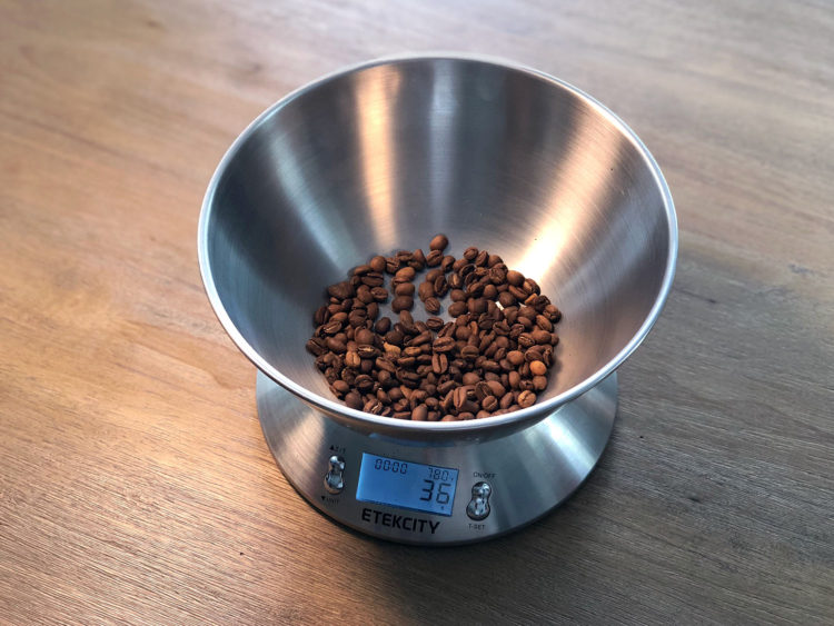 Measure out the coffee