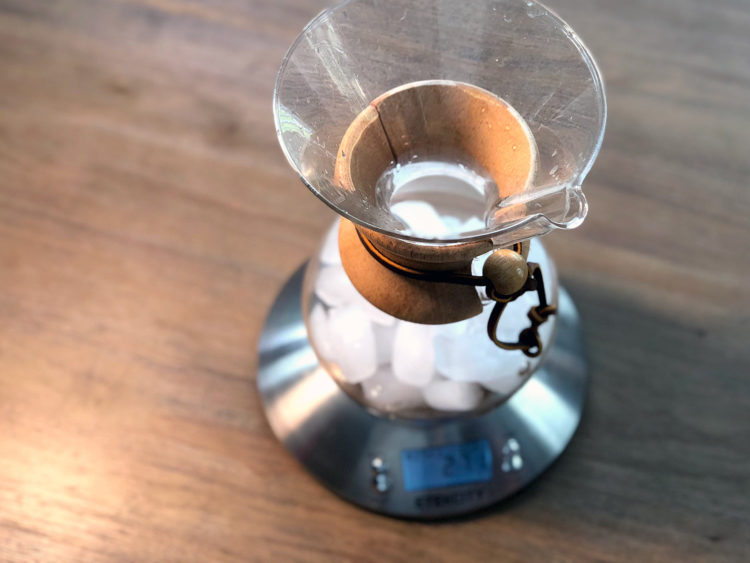 Add ice to the Chemex