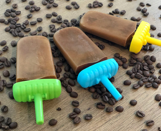 Oat Milk Coffee Popsicles