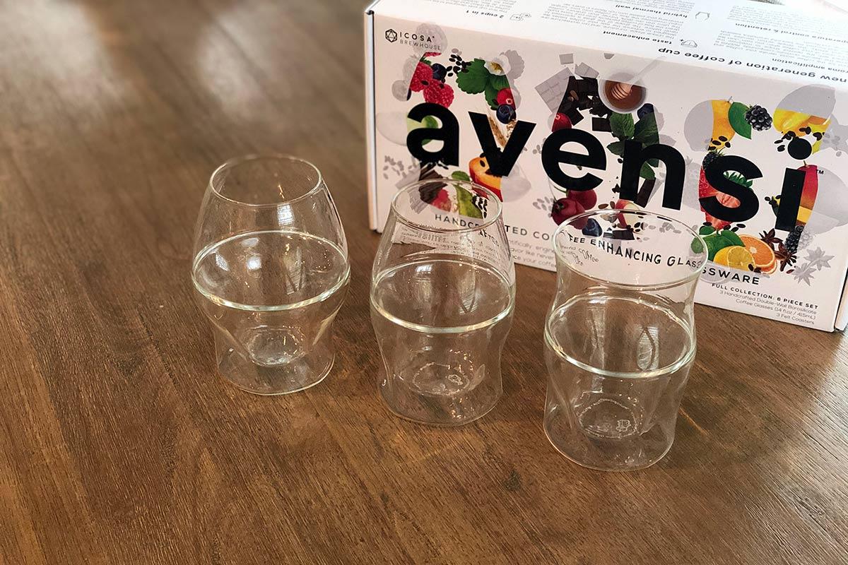 ICOSA Avensi Coffee enhancing glassware