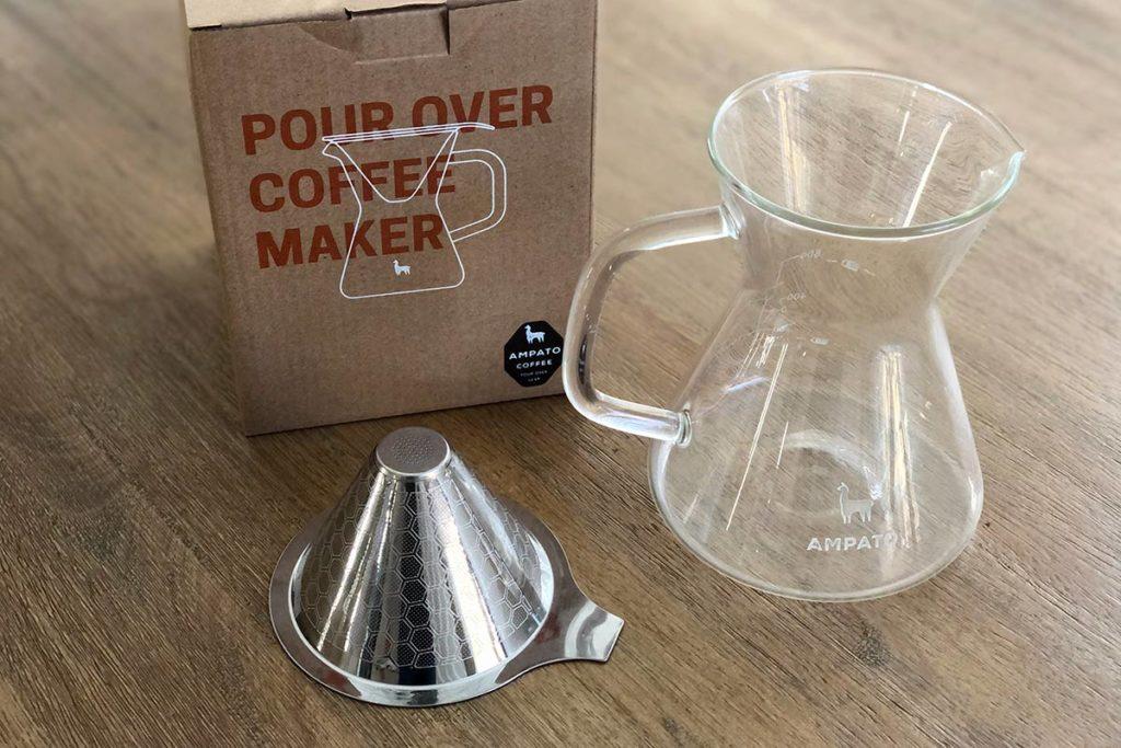 The AMPATO Pour Over Coffee Maker