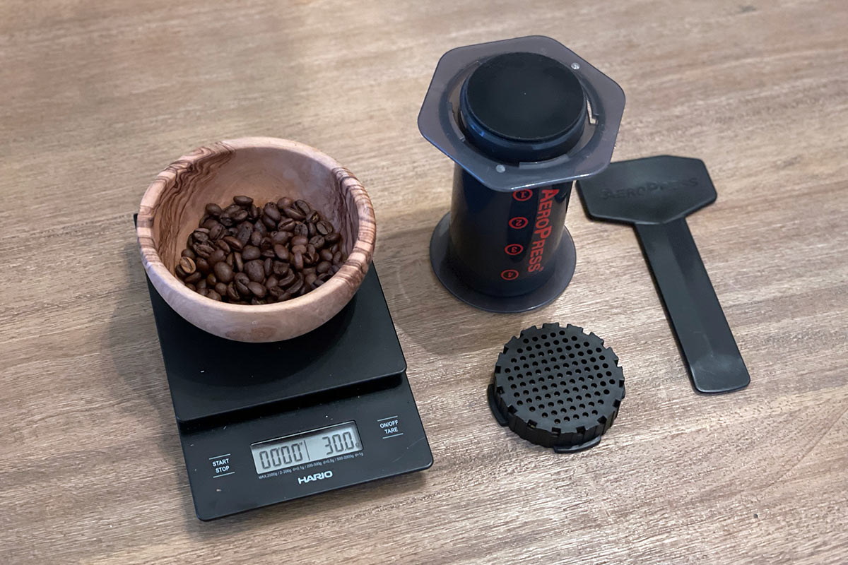 Equipment needed to brew the AeroPress 2019 World Champion brew recipe