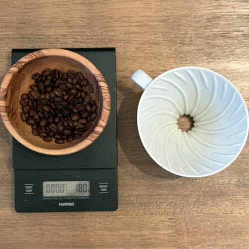 Equipment needed to brew the Hario v60 pulse pour brew recipe