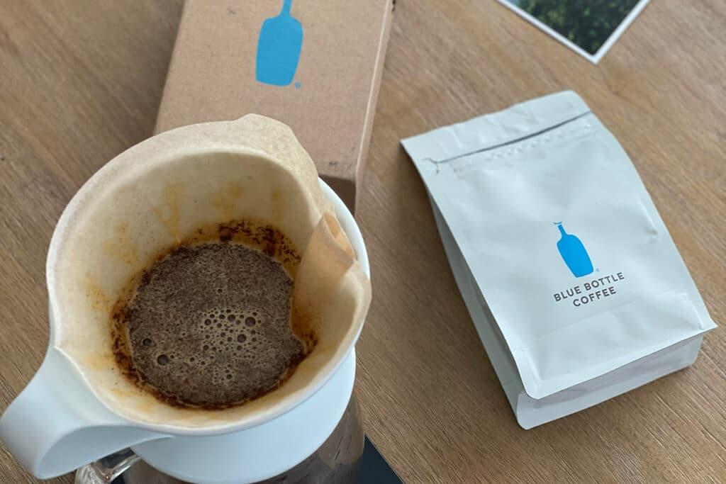 Brewing Blue Bottle coffee