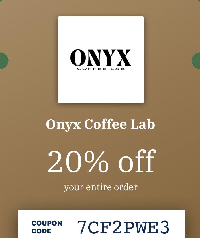 Onyx Coffee promo example