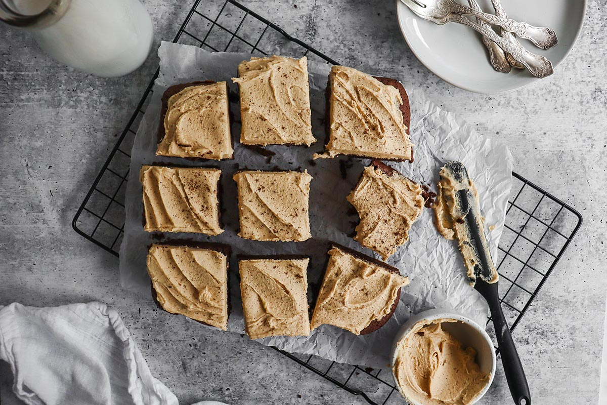 Espresso Brownies with Coffee Frosting