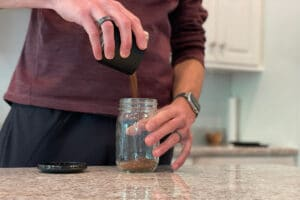 Add coffee | How to Make Cold Brew in a Mason Jar