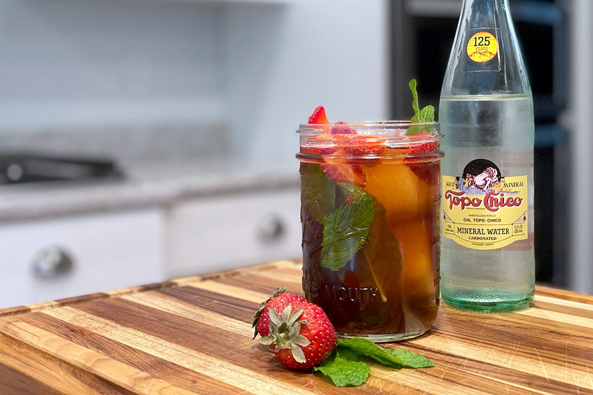 Strawberry Mojito Cold Brew Cocktail